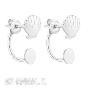 srebrne kolczyki z muszelkami, kolczyki, zaucho, srebro, eleganckie, 925, muszla