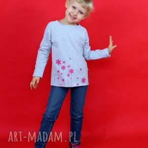 ubranka bluzka dziewczęca z długim rękawem nadrukiem, bluzka, bluza, dres, dresówka