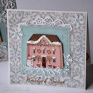 zestaw 2 kartki świąteczne, kartka, święta, handemade