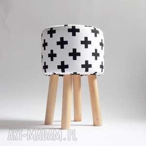 pod choinkę prezent, pufa czarne x 2, pufa, ryczka, taboret, stołek, siedzisko