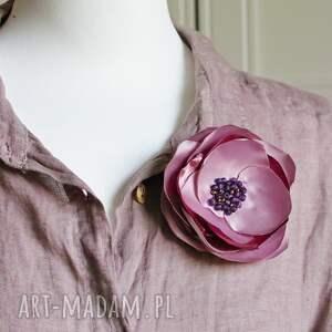 broszki elegancka broszka przypinka kwiatek, upominek prezent dla niej