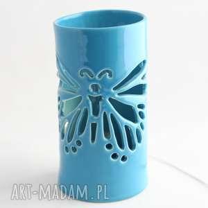 lampa ceramiczna motyl led