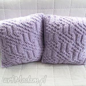 poduszki robione ręcznie wełna 40x40 cm 2szt, poduszki, poduszka, poszewki