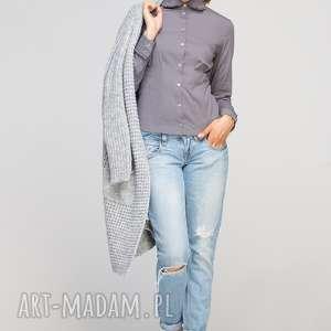 hand-made bluzki koszula z falbankami, k105 szary
