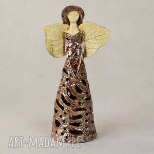ceramika anioł ceramiczny lampion, ceramiczny, wykonany ręcznie