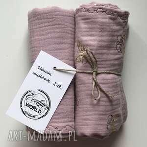 pieluszki muślinowe 2 sztuki różowe, muślin, różowy, otulacz, dladziecka