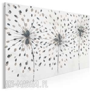 obraz na płótnie - dmuchawiec minimalizm kropki beżowy 120x80 cm 88401