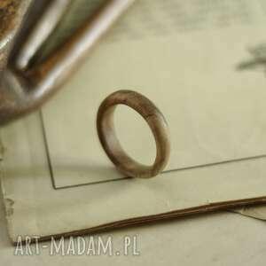 męska obrączna z drewna egzotycznego, obrączka, drewniana biżuteria