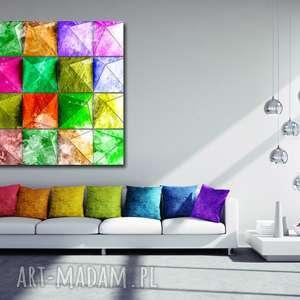 obraz GEOMETRYCZNY 1- 120x70cmna płótnie kolorowy , obraz, geometryczny, design