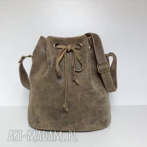 na ramię torba, torba, torebka, torebka do pracy, bucket bag, skórzana