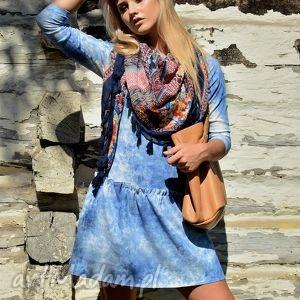 Sukienka LAURA Mini Sky , niebo, mini, falbana, chmury, sky, sukienka