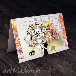 miły dzień w mieście karteczka, kartki, okolicznościowe, życzenia, imieniny