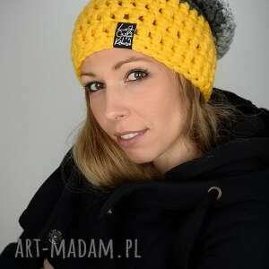 ręcznie wykonane czapki czapka triquence 03 - żółta