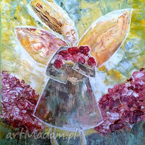 obrazy pieśń w mojej duszę, anioł, aniołek, kwiat, pieśń, 4mara