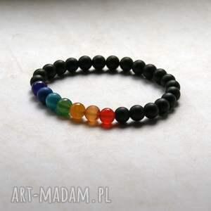 handmade męska chakra bracelet: wszystkie czakry