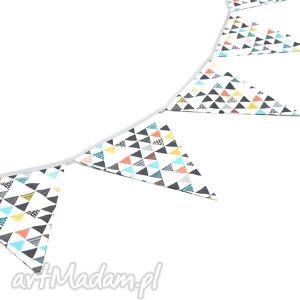 girlanda proporczyki chorągiewki 160 cm kolorowe trójkaty