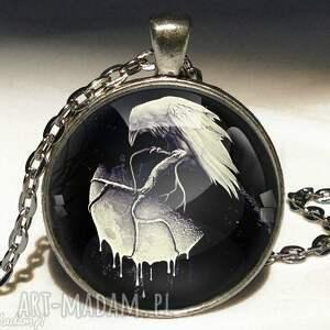 tajemnice nocy - duży medalion z łańcuszkiem - medalion, naszyjnik, kruk