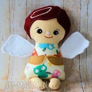 lalki aniołek modlący - zuzia 24 cm, lalka, aniołek, sowa, dziewczynka, chrzest