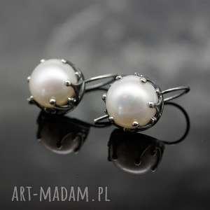 kolczyki srebrne kolczyki z perłami - romantic 2