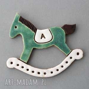 konik na biegunach- magnes ceramika, prezent, chrzest, narodziny, chłopiec, syn, koń