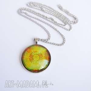 medalion, naszyjnik - mandala dobrego nastroju prosta, 3 cm, naszyjnik, medalion