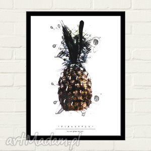 PINEAPPLE PAINTED Plakat 30x40, minimalizm