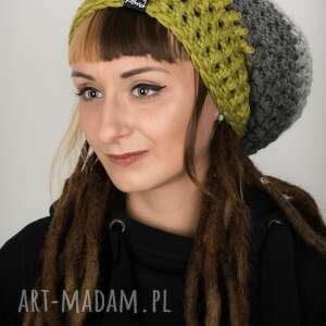 laczapakabra czapka dreadlove triquence 13 - jasna zielona, rasta, reggae