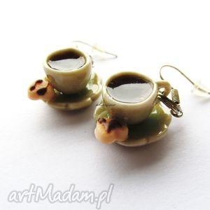 ręczne wykonanie kolczyki kolczyki filiżanki kawy