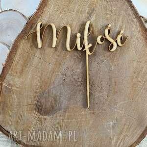 fabryqaprzytulanek topper drewniany miłość walentynki, drewniany