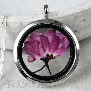 925 srebrny naszyjnik sakura madamlili - wiśnia, zawieszka, medalion