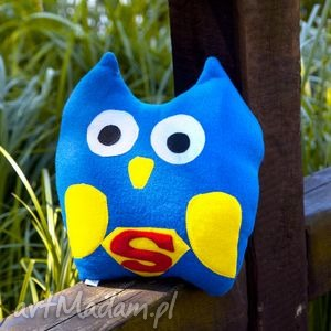 sowa superman - poduszka, przytulanka