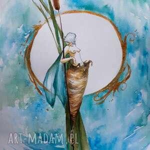 skrzydła jeszcze mokre akwarela artystki adriany laube - obraz na papierze a3