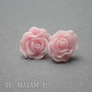 Alloys Collection /róże -słodki róż /, stal, szlachetna, róże, kolczyki