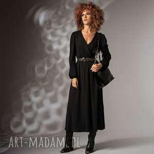 milita nikonorov katarzyna black night - czarna sukienka, elegancka, luźna