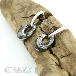 Kolczyki srebrne kryształki owale, kolczyki, srebrne, swarovski, kryształki, zapinane