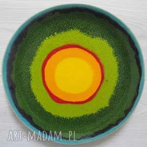 patera z wiosenną energią, ceramiczna, talerz ceramiczny, handmade