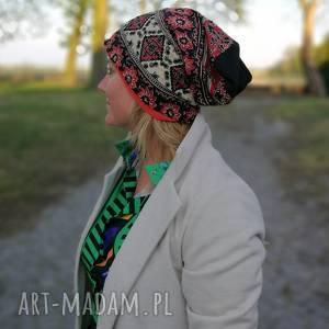 Ruda Klara. czapka damska boho wiosenna cekinowa przeceniona