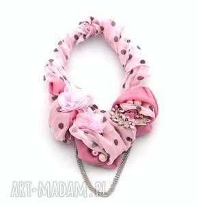 Różowa pantera naszyjnik handmade naszyjniki oheve