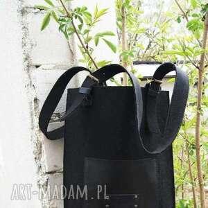 ręcznie wykonane na ramię torebka filcowa