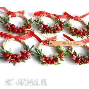 Pomysł na upominki święta? 6 mini wianków dekoracje wooden love
