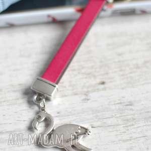 beezoo skórzany brelok do kluczy flamingo pink, kluczy