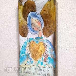 deseczka z sentencją nr 32, anioł, aniołek, dom, sentencja
