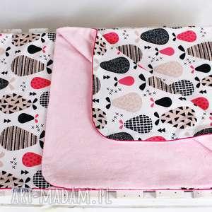 NuvaArt Kocyk Minky 100x75 Gruszki Różowe