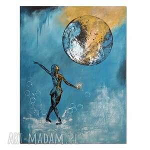 balloon stories /6/, obraz ręcznie malowany, obraz, ręcznie, postać
