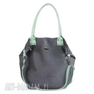 torba worek mysza #mint, mysza, mana-mana, personalizacja, mięta, ekoskóra