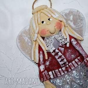 prezent święta Madzia elegantka - aniołek, anioły, dekoracja, prezent, kwiaty,