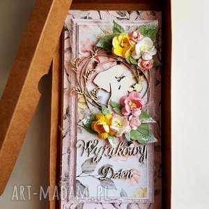 Ślubna kartka z okienkiem ślub maly koziolek pudełko, ślub