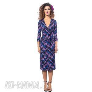 Monica - violet mix, kopertowa, krata, elastyczna