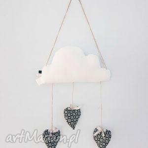 deszczowy mobilek chmurka serduszka - chmurka, deszczowa, serduszka, mobilek, zawieszka