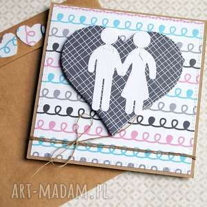 kartka ślubna :: ludziki doodle, ślub